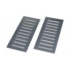 Aluminium Cooling Louvers 10 Fin (PAIR)